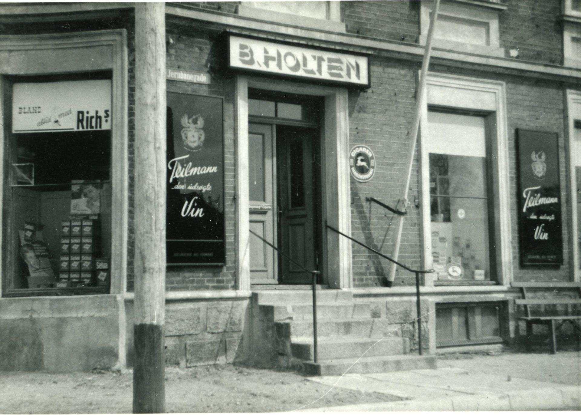 Købmand Holtens butik i Jernbanegade, Hinnerup